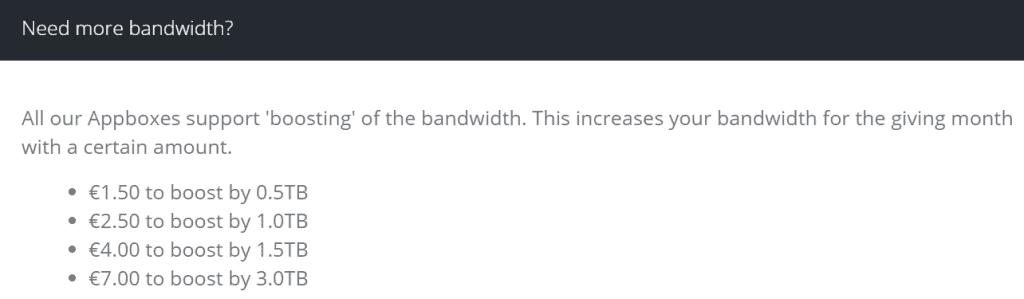 Bytesized-Hosting Additional Bandwidth